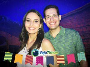 deputado alexandre almeida e sua esposa no timon junino