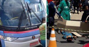 Na manhã desta segunda feira (17/04) um ônibus da empresa Guanabara atropelou e matou uma mulher na rodoviária de Timon. O acidente aconteceu na manhã desta segunda-feira(17) e transformou a rotina daquela área com a concentração de dezenas de curiosos que foram ver o fato. Informações preliminares dão conta de que a mulher teria saído do ônibus e tentado atravessar na frente do veículo e o motorista não a teria visto, o que ocasionou o acidente fatal. Acredita-se que a mulher pode baixa estatura não teria sido vista pelo motorista.